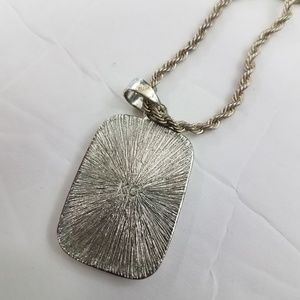 Kenneth Cole Jewelry - KC Kenneth Cole Necklace Silver Tone Blue Stripe M